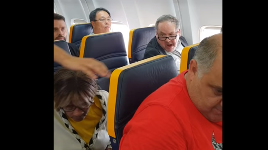 Pensioner 'depressed' after racial abuse on Ryanair flight