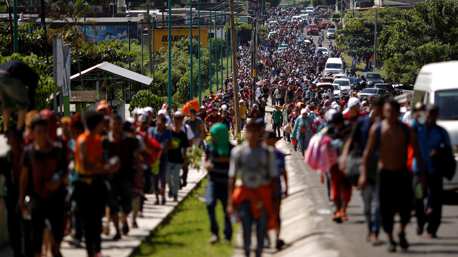 'Right from Trump's playbook': AP savaged by critics for calling migrant caravan 'army'