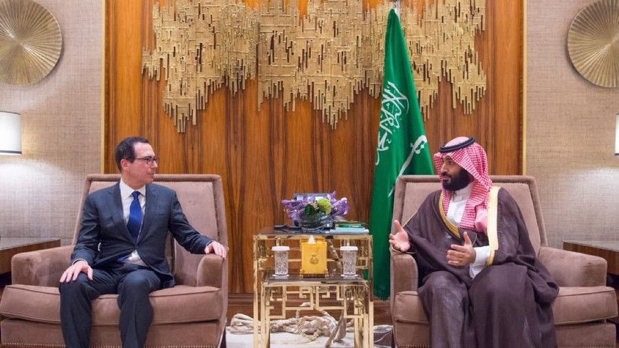 Business as usual: US Treasury Secretary meets with Saudi Crown Prince amid Khashoggi outrage