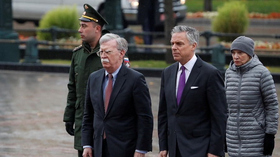US sticking to INF Treaty withdrawal, to be filed in due course – Bolton after Moscow visit