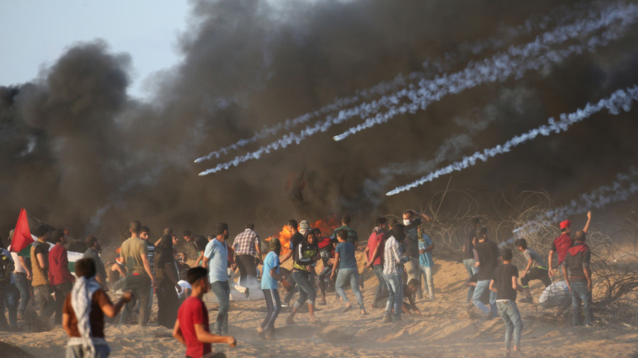 'David fighting Goliath': Image of shirtless Gaza protester goes viral online