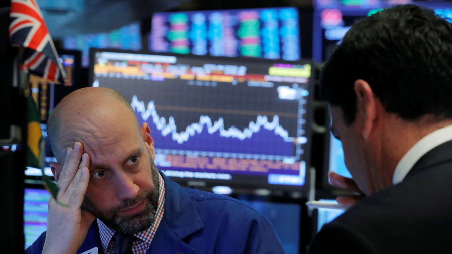 U.S. stocks plunge, Dow falls 600 points to wipe out 2018 gains