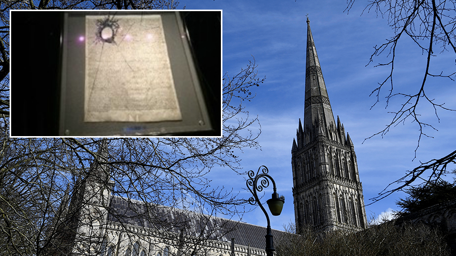 Russian plot? Hammer wielding man tries to steal Magna Carta from Salisbury Cathedral