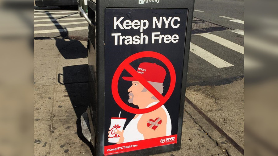 Posters in New York declare Trump supporters 'trash'