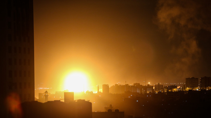 Israel pummels Gaza with airstrikes in response to rocket attack (PHOTOS)