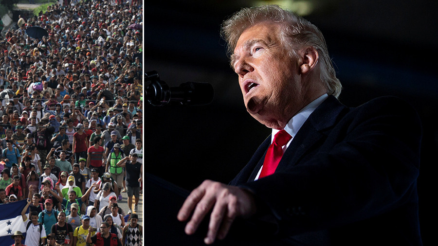 'This is an invasion, our military is waiting for you,' Trump warns 'migrant caravan'