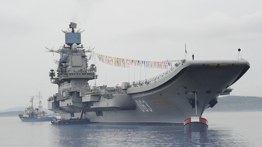 Russia's largest floating dock sinks, its tower crane makes hole in nation's sole aircraft carrier