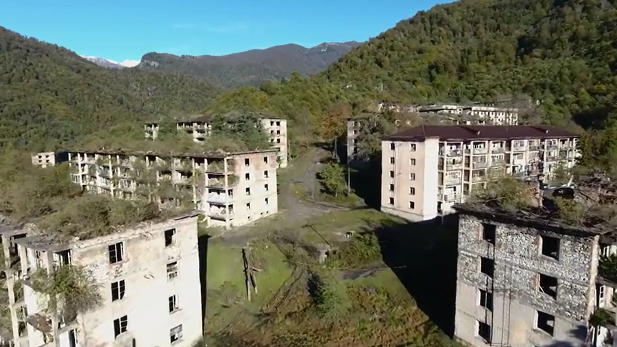 This Soviet-era ghost town is being reclaimed by nature and it's eerily beautiful