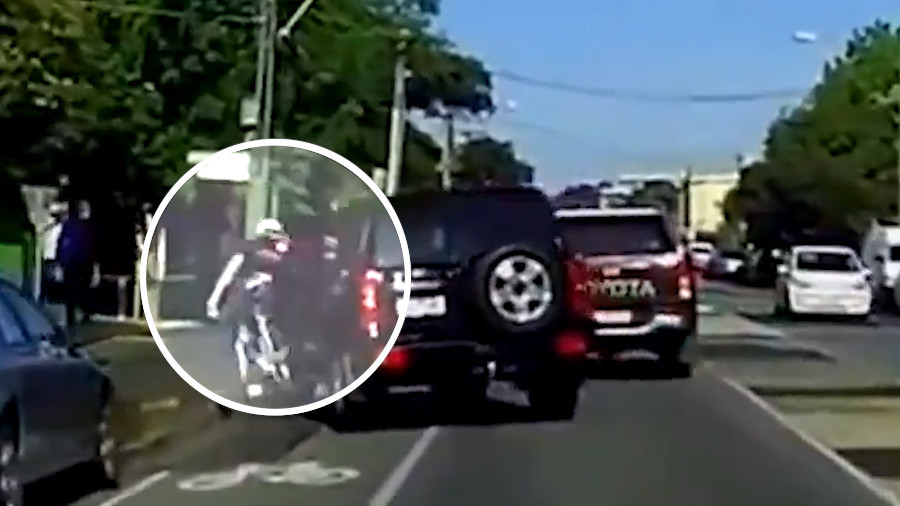 Dashcam captures shocking road rage attack on cyclist (VIDEO)