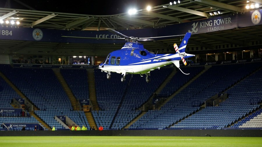 Doomed Leicester City helicopter spirals out of control and crashes in horrifying footage (VIDEO)