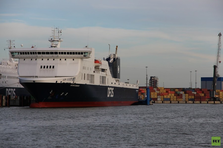 Hundreds stranded in Baltic Sea after 'blast' & fire on ferry