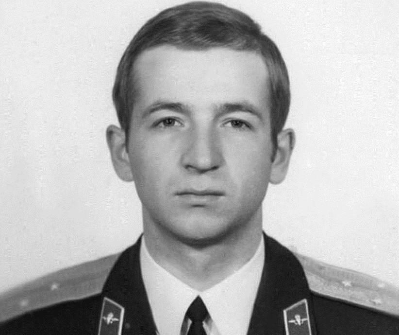 Young Sergey Skripal as a lieutenant in the Russian Airborne Troops
