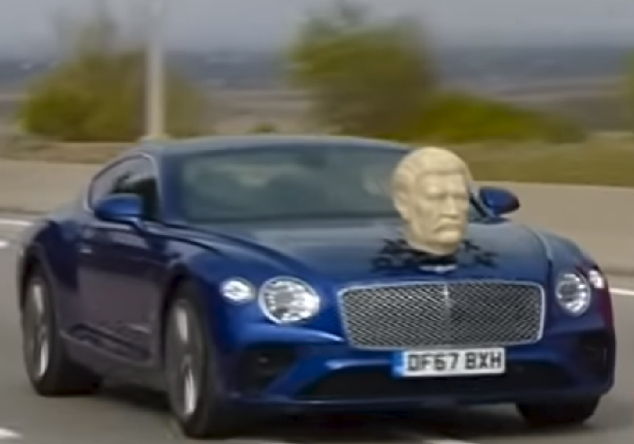 Jeremy Clarkson tours Georgia with bust of Stalin on bonnet of his Bentley (VIDEO)