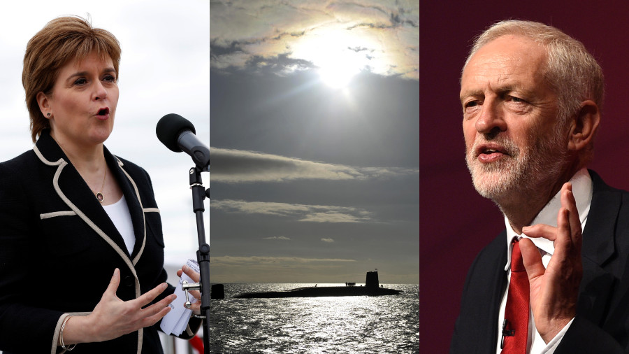 'Corbyn would be mad not to get rid of nukes': SNP would back Labour govt if they dump Trident
