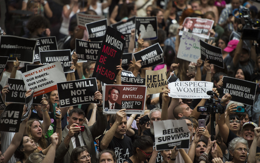 'Don't fall for it!' Anti-Kavanaugh protesters are paid professionals backed by Soros, Trump says