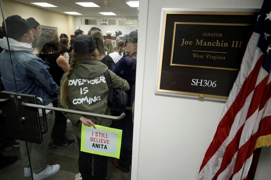 Senators Flake, Manchin, Collins have their offices surrounded by protesters after Kavanaugh vote