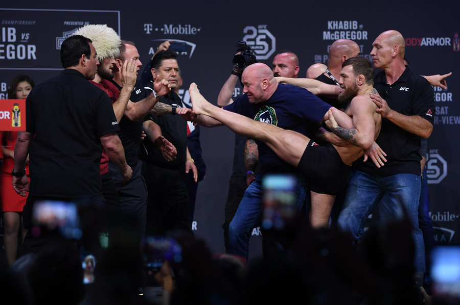Three members of Khabib team arrested after mass brawl mars UFC 229 win over McGregor – reports