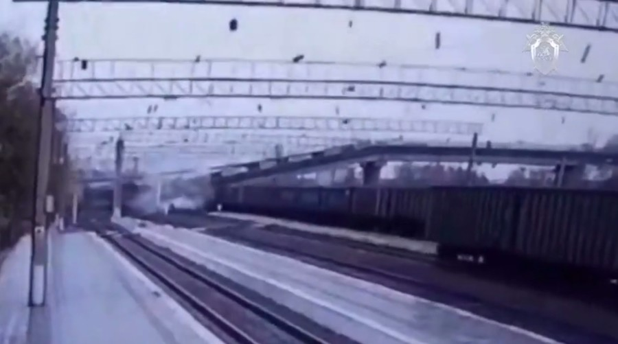 VIDEO: Bridge collapses on world's longest railway linking Russia's west & east