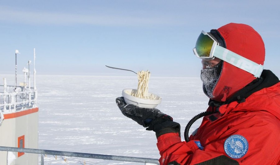 Food or art? Meals frozen in time make light of dangerous, daily life in icy Antarctica