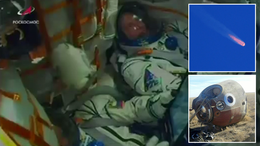Like a cinder block 7 times your weight on your chest – survivor describes Soyuz crash to RT