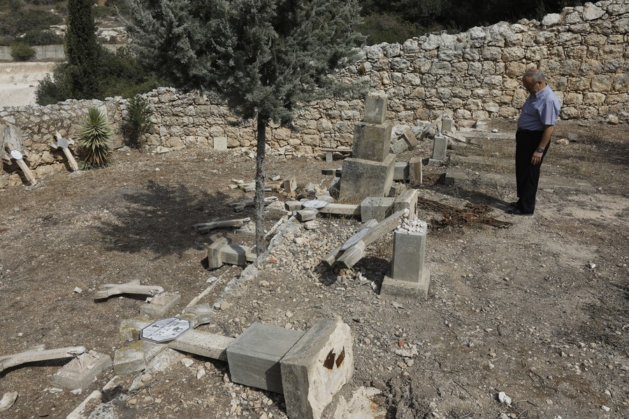Vandals destroy Christian cemetery in Israel in apparent hate crime