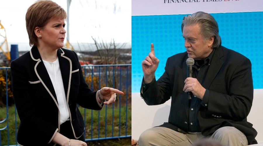 'I regret BBC has put me in this position' – Scottish leader boycotts event over Steve Bannon