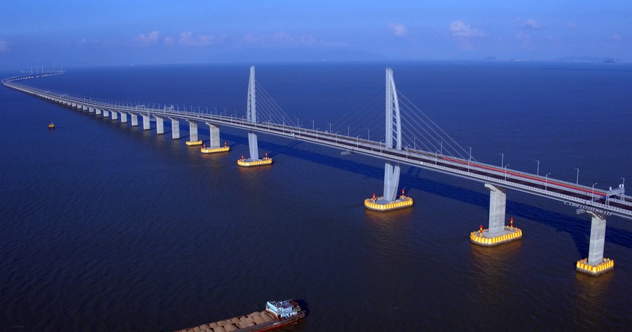 China opens world's longest sea bridge to Hong Kong & Macau