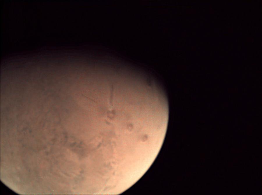 NASA CubeSat beams back image of Mars