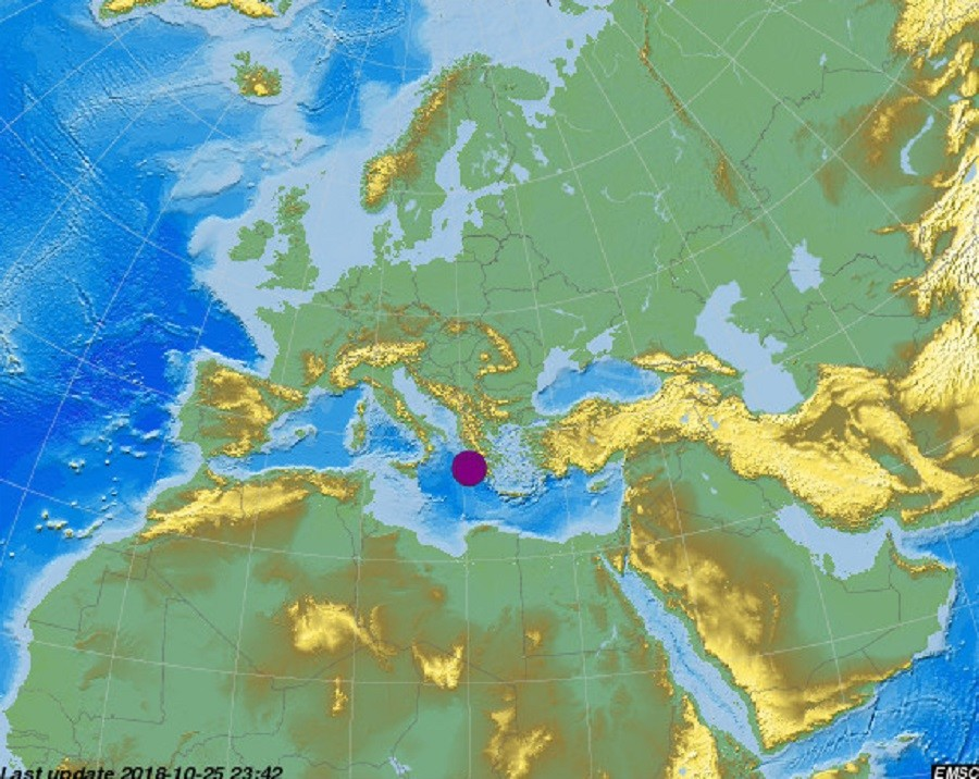 6.8 earthquake off Greek coast triggers mini-tsunami warning