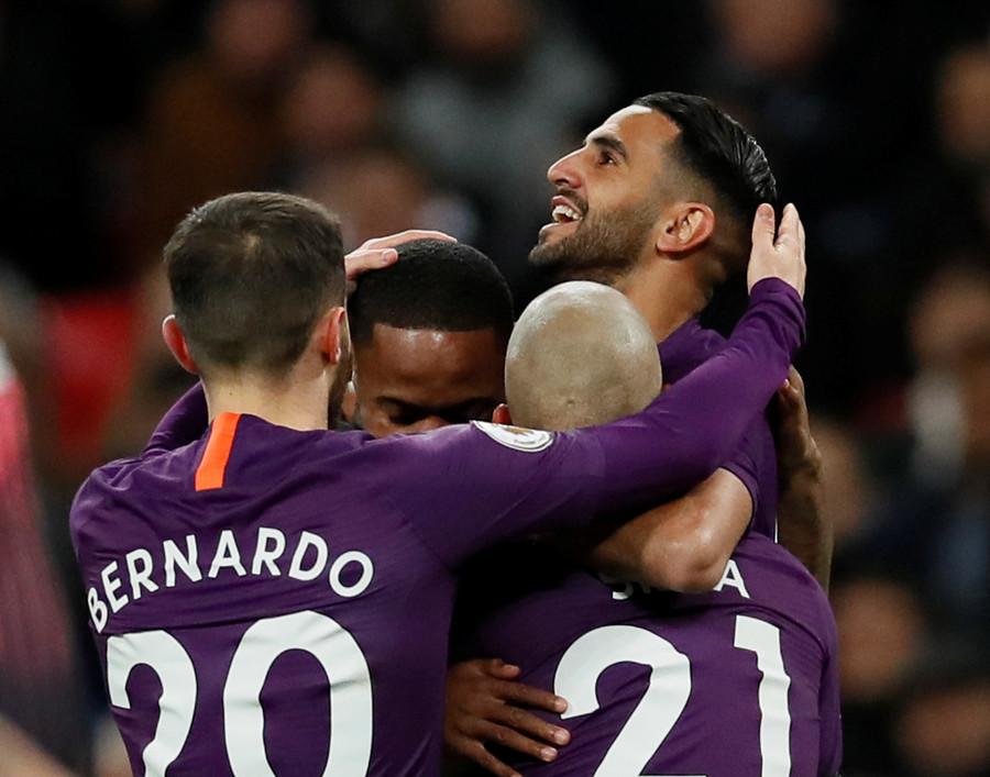 'Like a dad...RIP boss': Mahrez dedicates Wembley goal to tragic Leicester owner