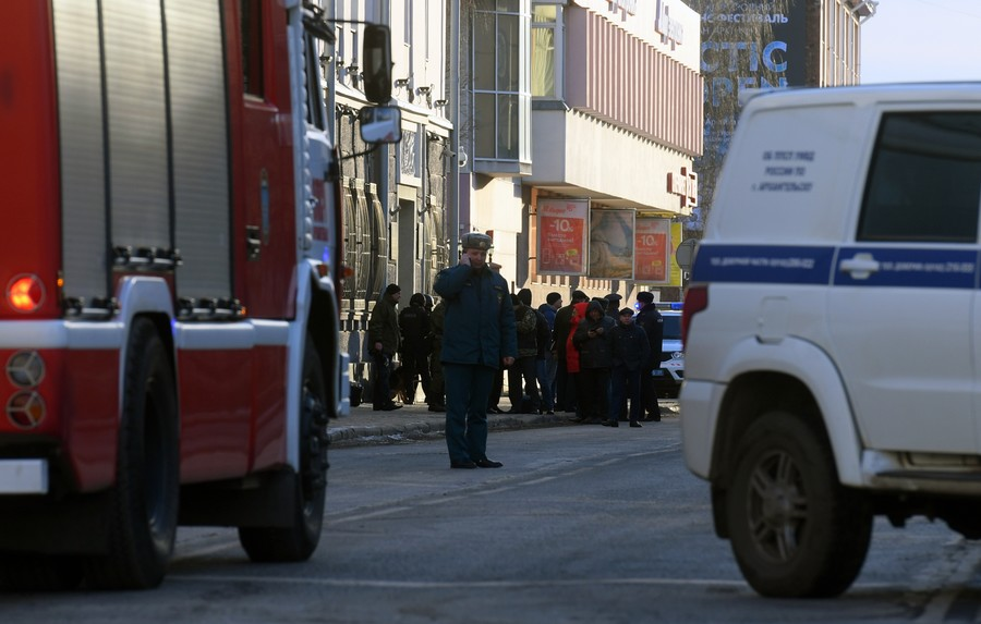 One dead, three wounded in blast in Russian security service building