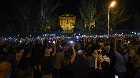 Massive protest blocks Armenian parliament as new PM accuses opposition of 'counter-revolution'