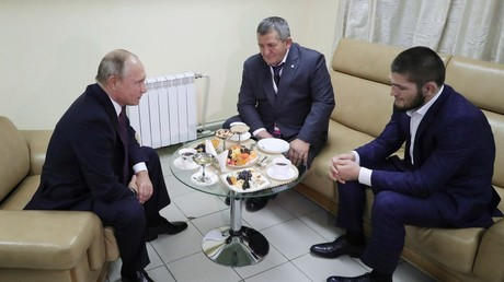 Khabib meets Putin: Russian president congratulates UFC champ on 'worthy' victory