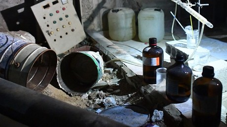 FILE PHOTO: A laboratory used by the militants to produce chemical agents and explosive in the Damascus suburb of Douma. © Sputnik / Mikhail Voskresensky