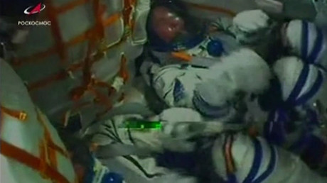 5bbf4538fc7e9330748b45f1 Live feed shows moment of dramatic booster failure before cutting off during Soyuz launch (VIDEO)