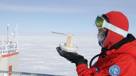 5bbf4cf5fc7e930f7a8b45dd Food or art? Meals frozen in time make light of dangerous, daily life in icy Antarctica