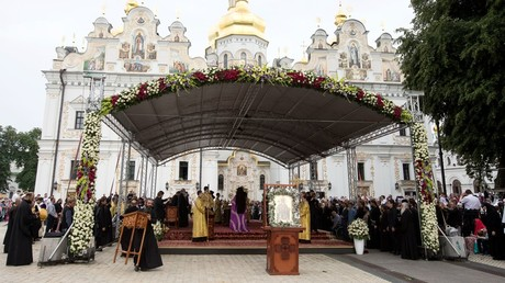 Festivities at the Kiev Pechersk Lavra. © Sputnik