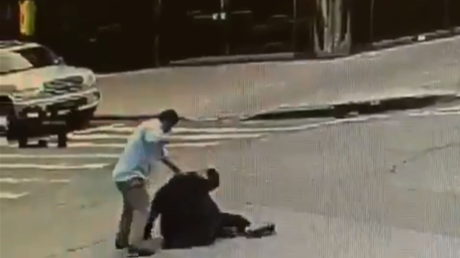 Brutal beating of elderly Orthodox Jew in Brooklyn captured on CCTV (SHOCKING VIDEO)