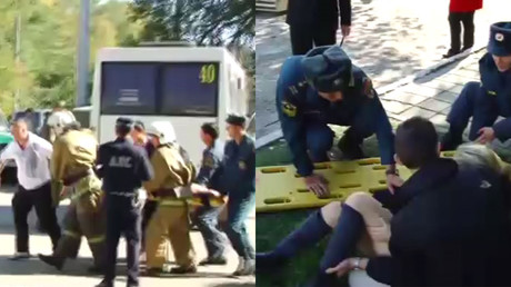 Bodies Lying Everywhere Shooting At Crimea College Has
