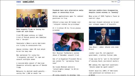 New Samizdat: RT brings you a new censorship buster