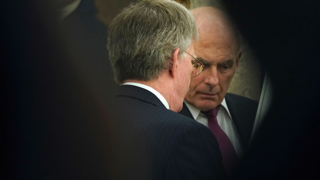 5bc912b4dda4c8374a8b465b Bolton and Kelly exchange profanities outside Oval Office over immigration policy