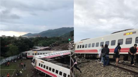 At least 17 dead, 120+ injured in catastrophic train derailment in Taiwan (DISTURBING PHOTOS, VIDEO)