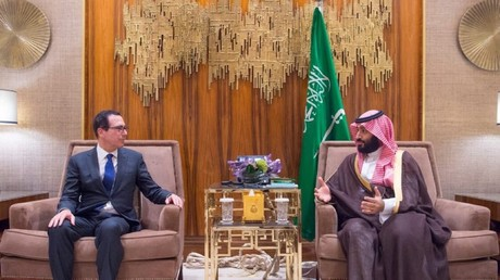 Business as usual: US Treasury Secretary meets with Saudi Crown Prince amid Khashoggi outrage