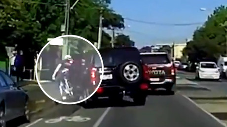 Dashcam captures shocking road rage attack on cyclist (VIDEO)