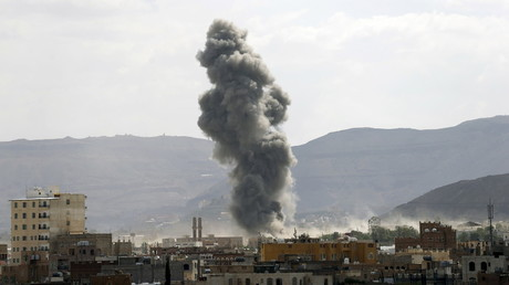 FILE PHOTO: Saudi-led air strike in Yemen's capital Sanaa © Reuters / Khaled Abdullah