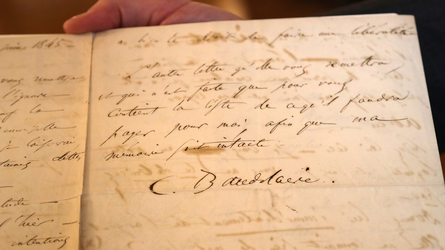 French poet Baudelaire's suicide letter sells at auction for $267,000