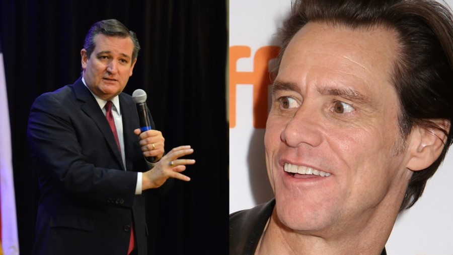 'The dead vote Democrat': Ted Cruz snaps at Jim Carrey over 'vampire' cartoon