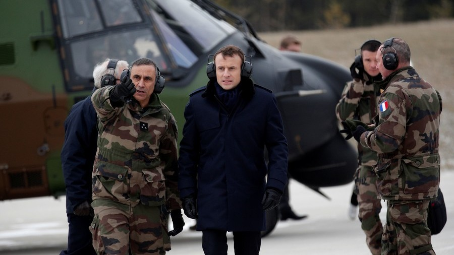 Macron wants 'real European army' to combat Russian threat & end reliance on US