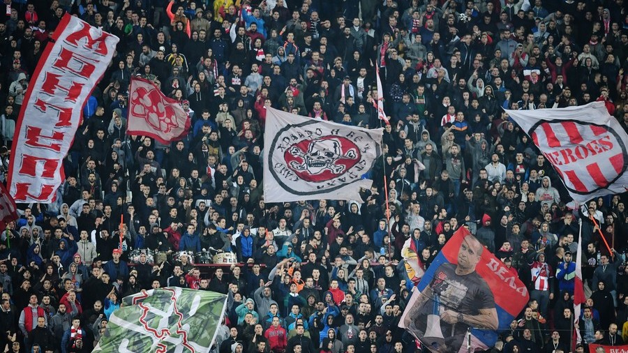 'F*ck you Liverpool! F*ck you Liverpool!' - Crvena Zvezda greet Reds in UCL clash (VIDEO/PHOTOS)
