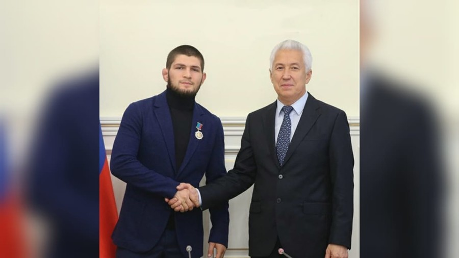 'Pride of Dagestan': Khabib honored with highest award in home republic